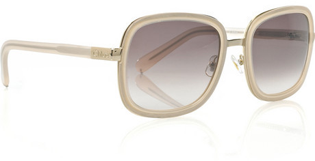 Chloé Square-framed acetate sunglasses