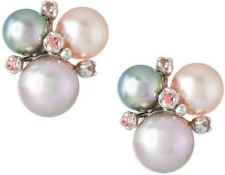 Majorica Multi-Pearl Stud Earrings