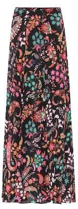 Etro Floral silk crêpe maxi skirt
