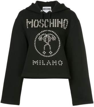 Moschino studded hoodie