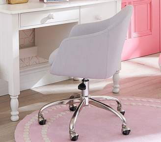 Pottery Barn Kids Wraparound Task Chair, Linen Blend Gray, Standard UPS Delivery