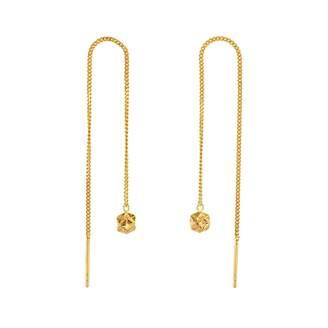 Origami Jewellery Magic Ball Gold Chain Earrings
