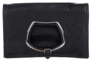 Balenciaga Adron Leather Clutch