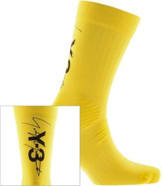 Y-3 Y3 Tube Socks Yellow