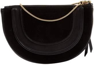 Diane von Furstenberg Black Suede Clutch Bag