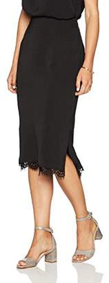 Paris Sunday Women's Column Midi Skirt Lace Detail