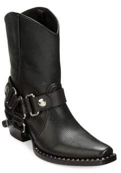 Miu Miu Leather Strap Moto Booties
