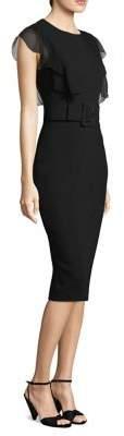 Michael Kors Belted Ruffle Dress