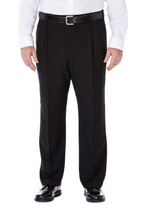 Haggar Classic Fit Pleated Pants-Big and Tall