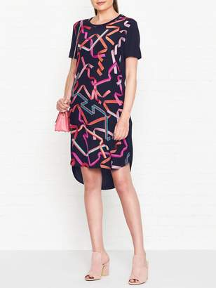 Paul Smith Ribbon Print T-shirt Dress - Navy