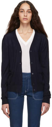 Chloé Navy Wool Cardigan