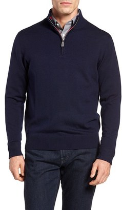 Men's Tailorbyrd Sperry Quarter Zip Wool Sweater $125 thestylecure.com