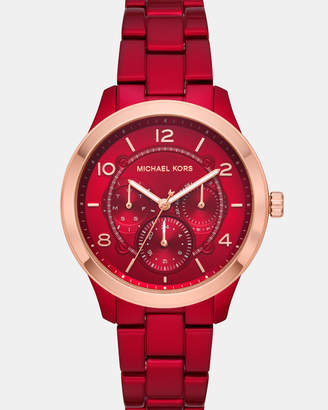Michael Kors Runway Red Analogue Watch