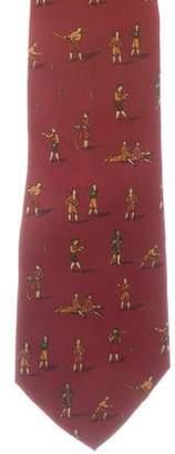 Salvatore Ferragamo Silk Leisure Print Tie