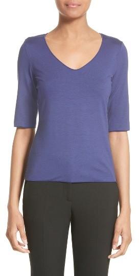 Women's Armani Collezioni Stretch Jersey Tee