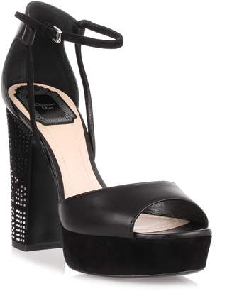 Christian Dior Stellar black 120 leather sandal