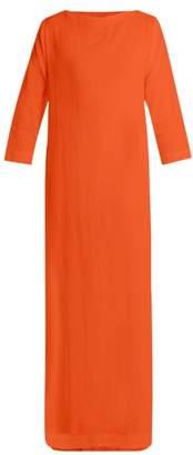 Casa Nata - Boatline Cotton Gauze Dress - Womens - Orange