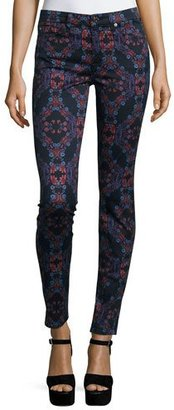 7 For All Mankind The Mid-Rise Kaleidoscope Skinny Jeans, Radiant Stained Glass $198 thestylecure.com