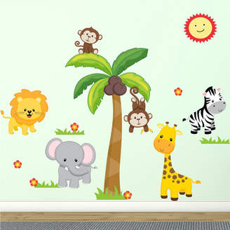 DecaltheWalls Jungle Theme Fabric Wall Decal