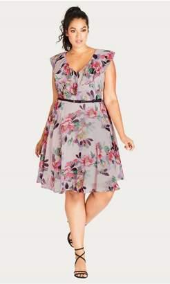 City Chic Citychic Romance Ruffle Fit & Flare Dress