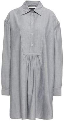 McQ Lace-up Cotton Oxford Mini Shirt Dress