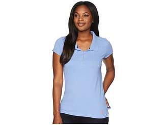 U.S. Polo Assn. Peter Pan Pleat Front Polo Women's Clothing