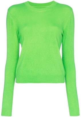 The Elder Statesman Billy cropped knitted cashmere jumper