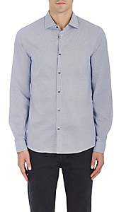 Michael Kors MEN'S GEOMETRIC-PRINT COTTON POPLIN SHIRT-WHITE SIZE XXL