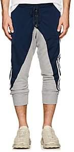 Greg Lauren Men's Jersey & Terry Drop-Rise Track Pants-Navy
