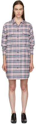 Etoile Isabel Marant Pink and Blue Check Iceo Pilou Dress