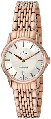 Edox Womens Analogue Quartz Watch with Stainless Steel Strap 57001 37RM AIR