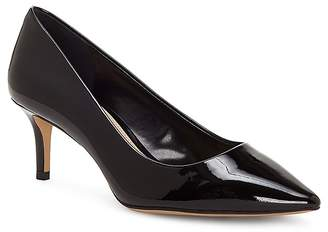 Vince Camuto Women's Kemira Patent Leather Pointed Toe Mid Heel Pumps