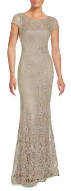 Short Sleeve Lace Gown $548 thestylecure.com