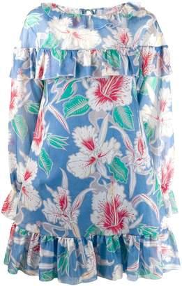 Valentino ruffle trim floral dress