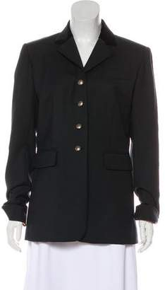 Hermes Wool Blend Long Sleeve Blazer