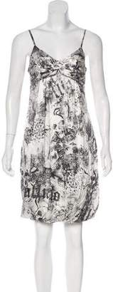 Galliano Printed Silk Dress