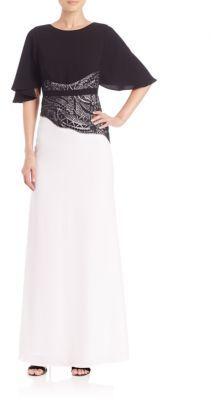 BCBGMAXAZRIAElayna Two-Tone Gown