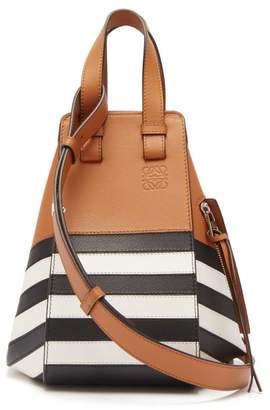 Loewe Hammock Marine Small Leather Tote Bag - Womens - Tan Multi