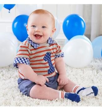 Infant Boy's Baby Aspen My First Birthday Bodysuit, Shorts & Socks Set $40 thestylecure.com