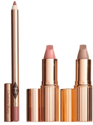 Charlotte Tilbury Hot Lips Lipstick Set - Hot Lips Nude $60 thestylecure.com