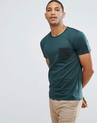 Selected Stripe Tee With Contrast Pocket