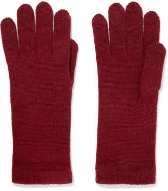Johnstons of Elgin Cashmere Gloves - Burgundy