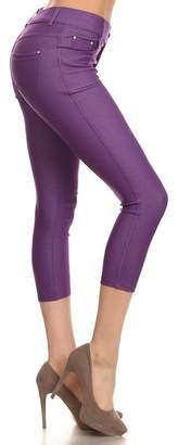Kate Marie Solid Color Capri Fashion Jeggings