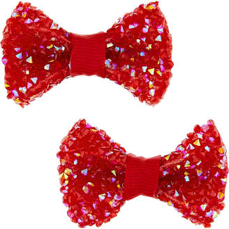 Monsoon 2x Dazzle Scallop Bow Clips