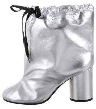Maison Margiela Oversize Metallic Ankle Boots