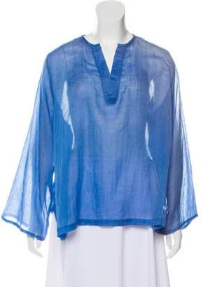 Denis Colomb Cashmere-Blend V-Neck Tunic w/ Tags