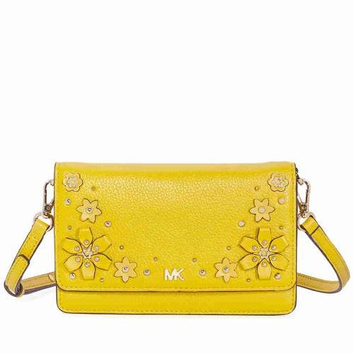 Michael Kors Floral Embellished Convertible Crossbody- Sunflower - ONE COLOR - STYLE