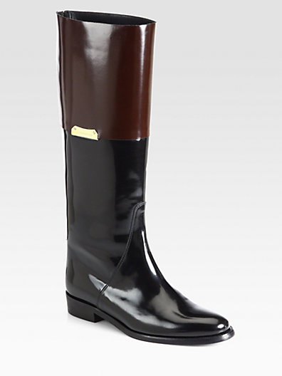 Burberry Camberley Patent Leather Riding Boots