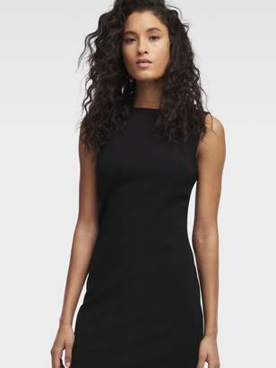 DKNY Mesh Inset Bodycon Dress