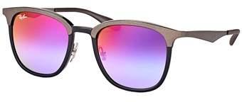 Ray-Ban Rb 4278 6284b1 Black/ Matte Grey Square Sunglasses.